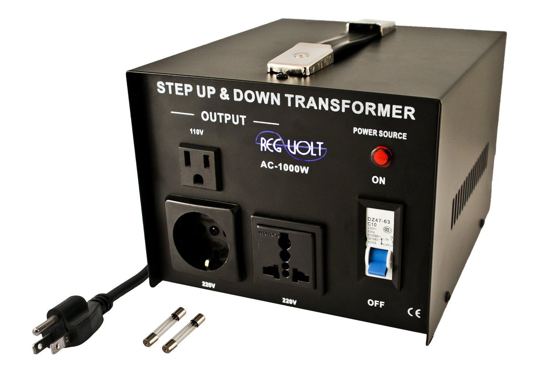 regvolt ac 1000 step up down voltage converter transformer 1000 watts regvolt the power you need. Black Bedroom Furniture Sets. Home Design Ideas