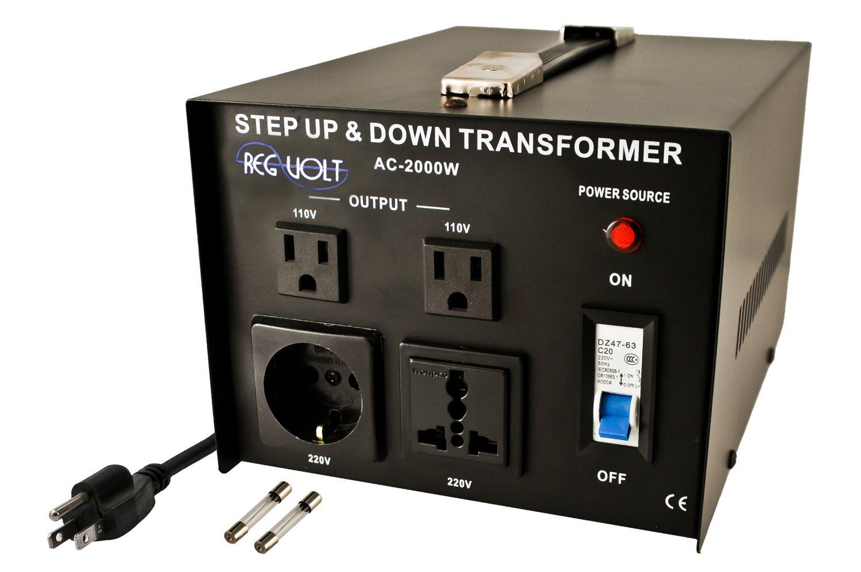 Regvolt Ac 2000 Step Up Down Voltage Converter Transformer