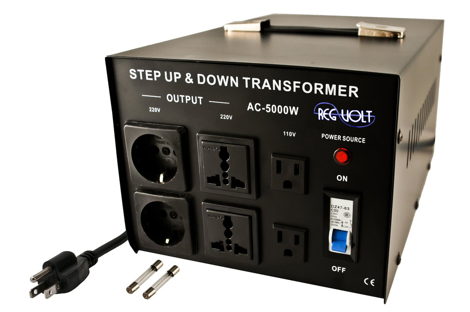 Regvolt Ac 5000 Step Up Down Voltage Converter Transformer